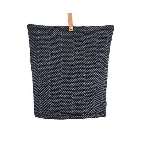 OYOY Tea cozy Momo dark gray cotton 32x30cm
