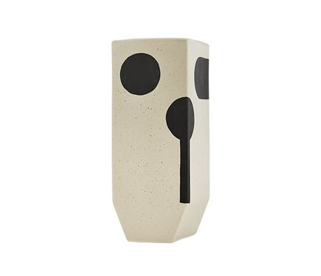 OYOY Vaas Rica hoog wit keramiek 20x19,50cm