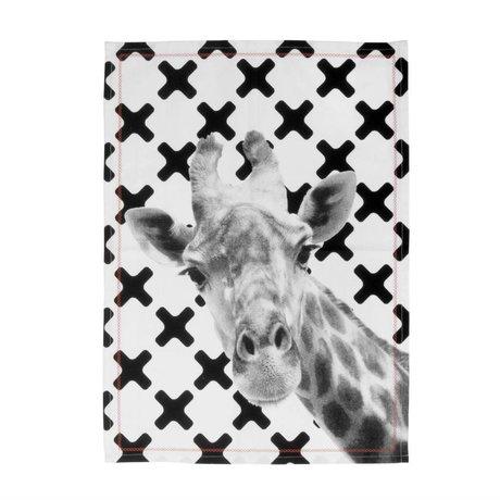 pt, Giraffe schwarzen und weißen Baumwollgeschirrtuch 50x70cm