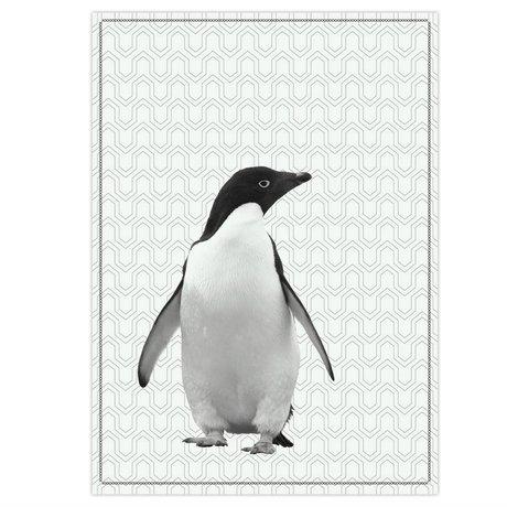 pt, Geschirrtuch Pinguin Schwarzweiss-Baumwolle 50x70cm