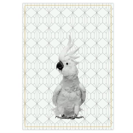 pt, Tea towel kaketoe black and white cotton 50x70cm