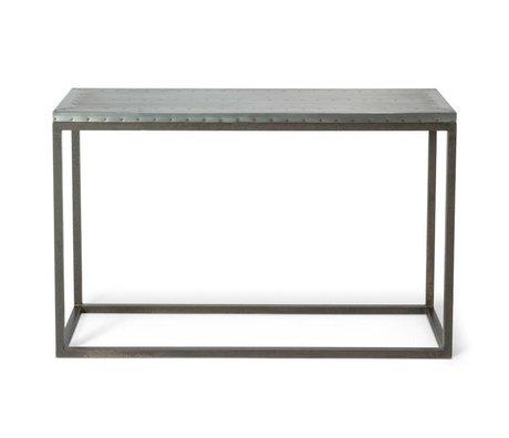 O'BEAU Side Table Nino 122x38x78cm gris métal