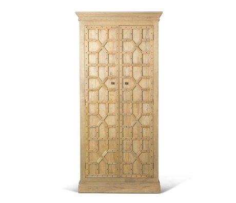 O'BEAU Kast Imre bruin hout 110x50x230cm