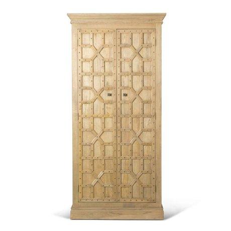 O'BEAU coffret bois brun Imre 110x50x230cm