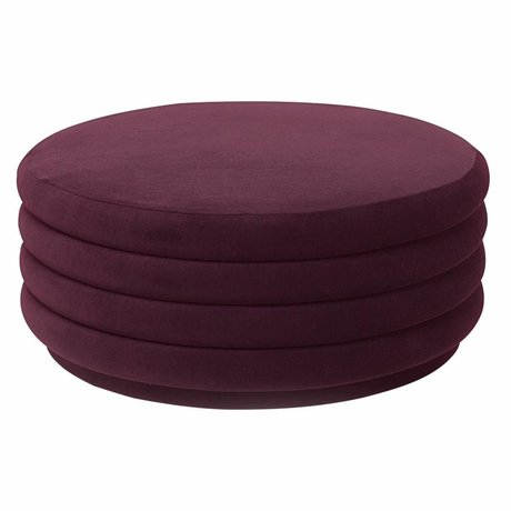 Ferm Living Powder bordeaux red velvet Ø90x40cm