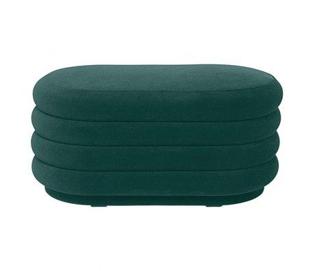 Ferm Living Pouf grüner Samt 90x40x42cm