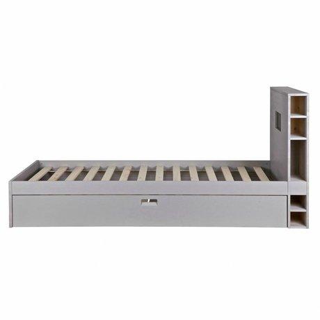 vtwonen Bettmatratze Speicher mit Schublade grau Holz 100x218x96cm