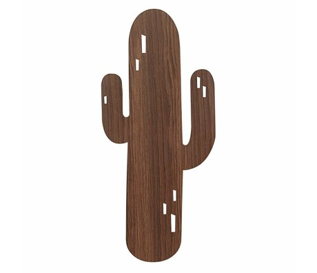 Ferm Living Wall lamp Cactus brown oak 21x47cm