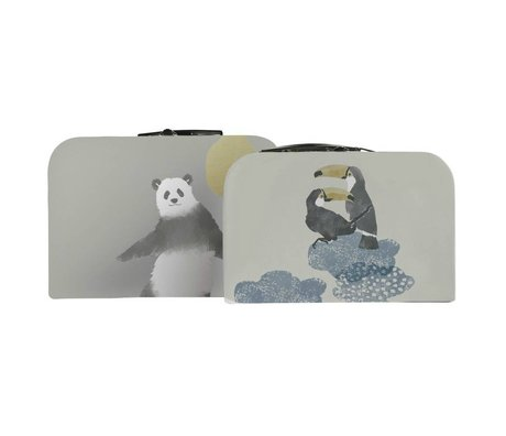 Sebra Children Caskets in the sky multicolored cardboard set of two