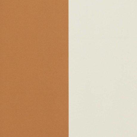 Ferm Living Wallpaper Dicke Linien Ocker cremeweiß 53x1000cm