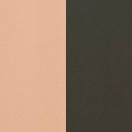 Ferm Living Lignes épais papier peint vert 53x1000cm rose