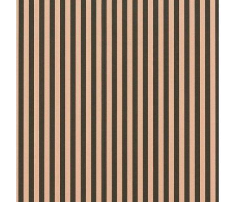 Ferm Living Les lignes minces fond d'écran vert 53x1000cm rose