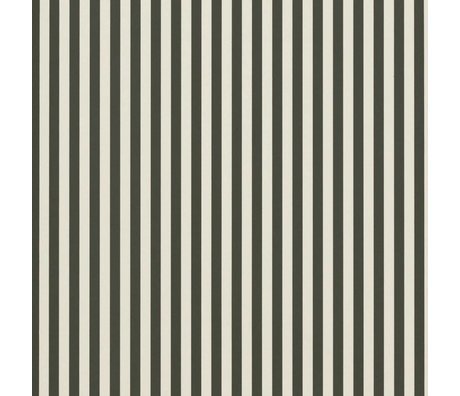 Ferm Living Wallpaper Thin Lines Green Cremewit 53x1000cm