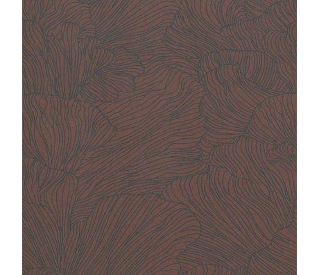 Ferm Living Behang Coral bordeaux rood donker blauw 53x1000cm