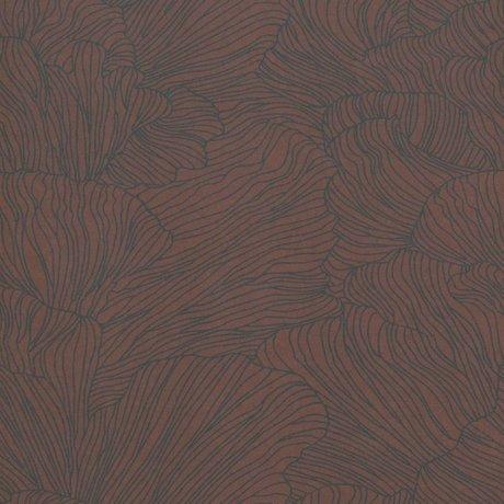 Ferm Living Wallpaper Coral bordeaux red dark blue 53x1000cm