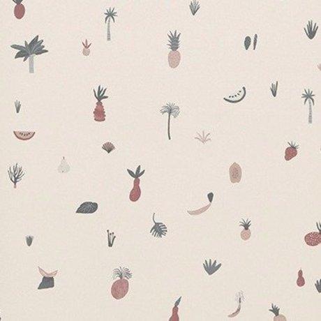 Ferm Living Fond d'écran Fruiticana 53x1000cm rose - copie