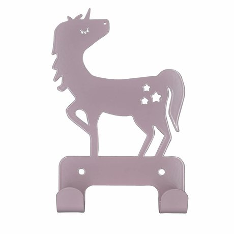 Eina Design Crochet mur prune Unicorn métal violet 17x11cm