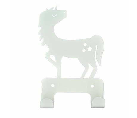 Eina Design Wandhaken Unicorn weißes Metall 17x11cm