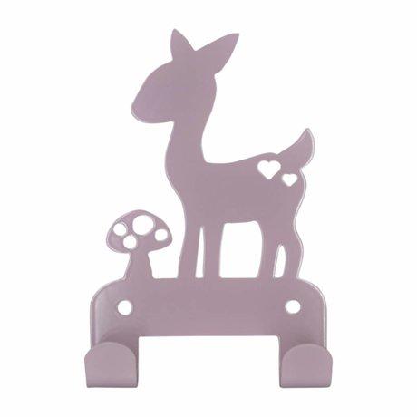 Eina Design Wall hook deer Plum purple metal 19x10,5cm