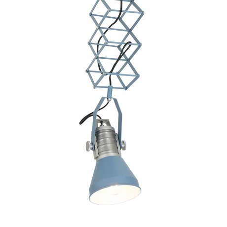 Anne Lighting Hängeleuchte Brusk blau Metall ø16x50-145cm
