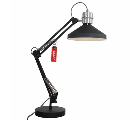 Anne Lighting Bureaulamp Anne Zappa aluminium zwart ø18x75cm