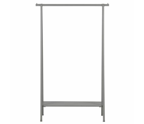 vtwonen Hang Kleidung grau Metall 160x100x40cm Rack aus