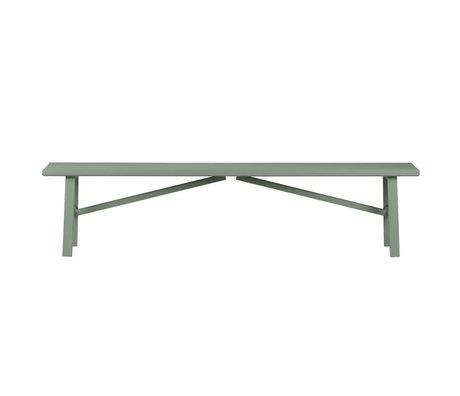 vtwonen Zitbankje Side by Side groen hout beton 37,5x160x30cm