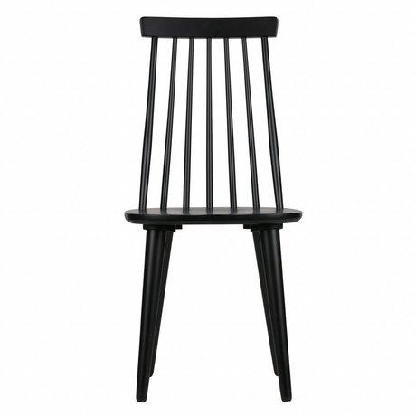 vtwonen Dining chairs Sticks set of 2 black wood 92x43x48cm