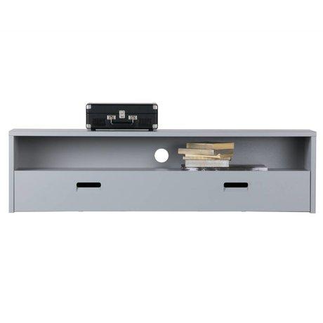vtwonen TV-Schrank Blick auf grauem Holz 40x150x35cm