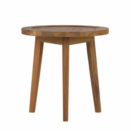 vtwonen Bijzettafel Sprokkeltafel naturel hout S 60x45x45cm