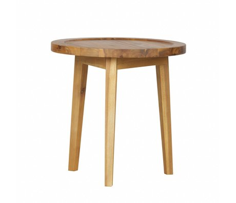 vtwonen Side table Spruce table natural wood XS 45x45x45cm