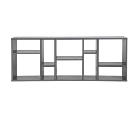 vtwonen Letterbak Horizon grijs staal 50x130x20cm