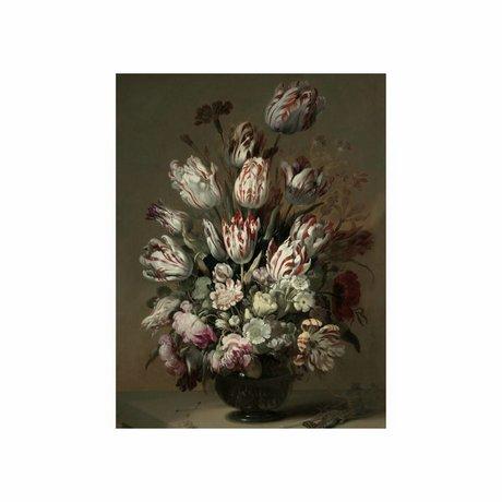 KEK Amsterdam Houten paneel Golden Age Flowers 4 S 45x60cm