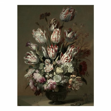 KEK Amsterdam Houten paneel Golden Age Flowers 4 L 75x100cm