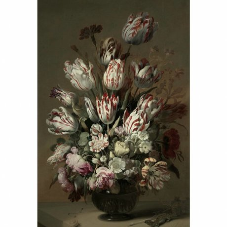 KEK Amsterdam Houten paneel Golden Age Flowers 4 XL 120x180cm