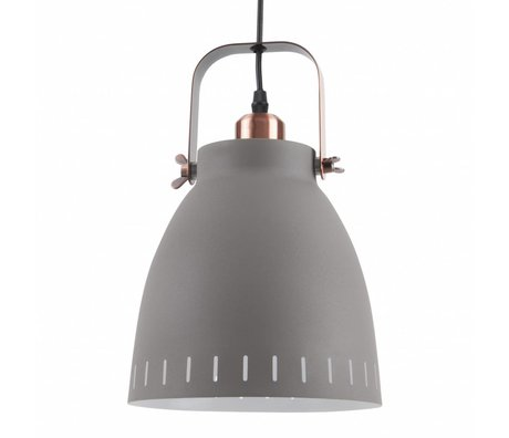 Leitmotiv Hanglamp pendant mingle gray metal Ø26,5x19x26,5