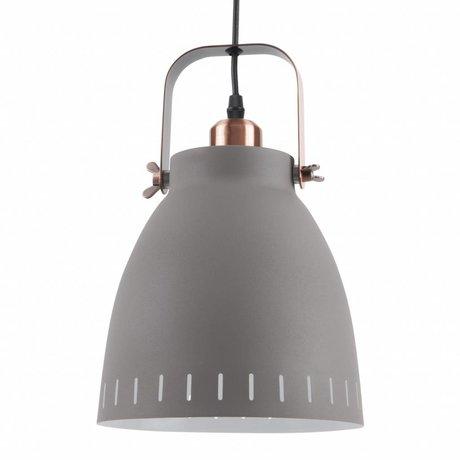 Leitmotiv Pendentif Lampe suspension se mêlent Ø26,5x19x26,5 métallique gris