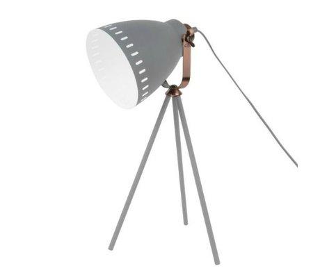 Leitmotiv Tafellamp Mingle grijs metaal Ø16.5x54x31cm