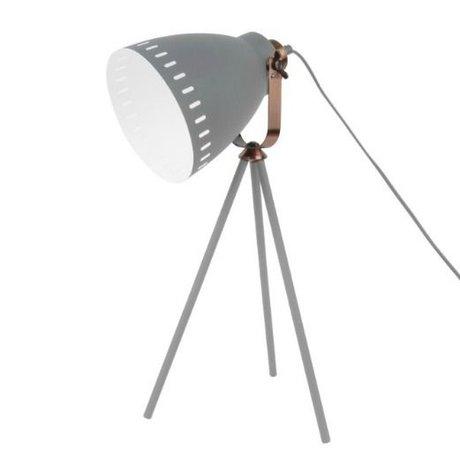 Leitmotiv Tischleuchte mischen graues Metall Ø16.5x54x31cm