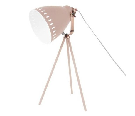 Leitmotiv Table lamp Mingle pink metal Ø16.5x54x31cm