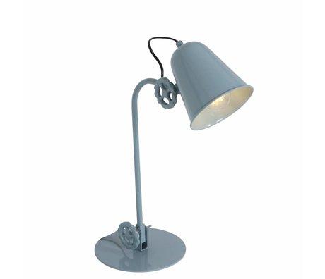 Anne Lighting Lampe de table métallique sarcelle Dolphin 19x38cm