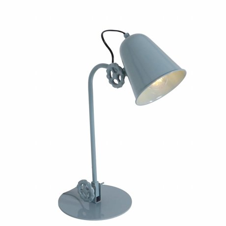 Anne Lighting Table lamp Dolphin green blue metal 19x38cm