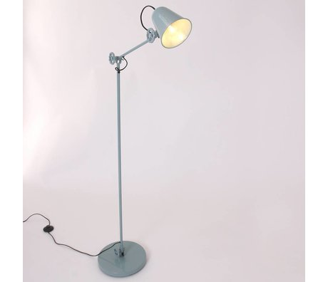 Anne Lighting Stehleuchte Dolphin teal Metall 28x160cm