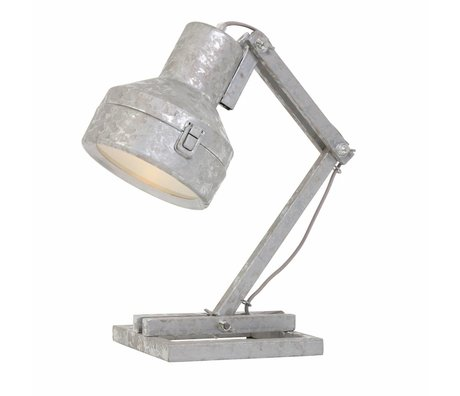 Anne Lighting Table lamp Studebaker zinc gray metal 18x25x47cm