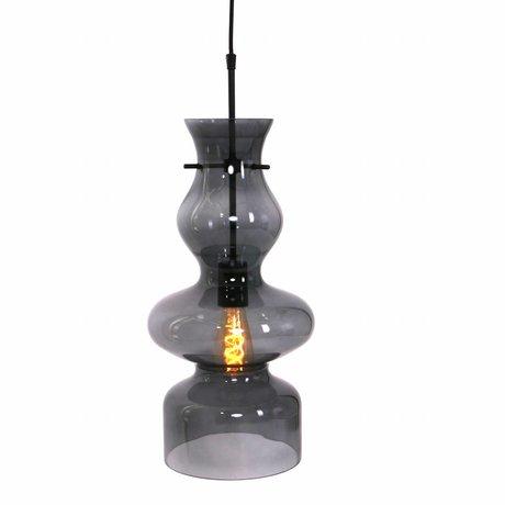 Anne Lighting Hängeleuchte Chalise Tag und Nacht aus schwarzem Glas Metall 21x165cm
