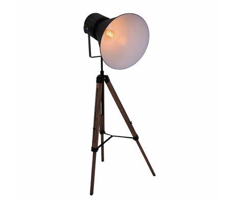 Anne Lighting Vloerlamp Hoody Tripod zwart metaal hout 60x170cm