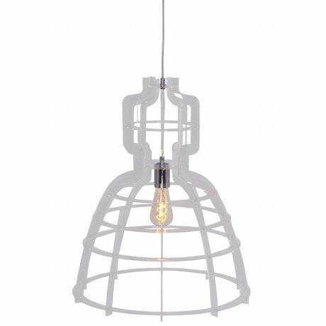 Anne Lighting Lampe à suspension MarkllI 49x152cm métallique synthétique transparent