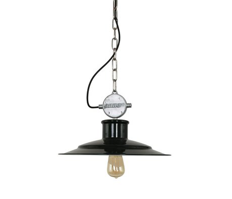 Anne Lighting Hanging lamp Millstone black metal 40x195cm