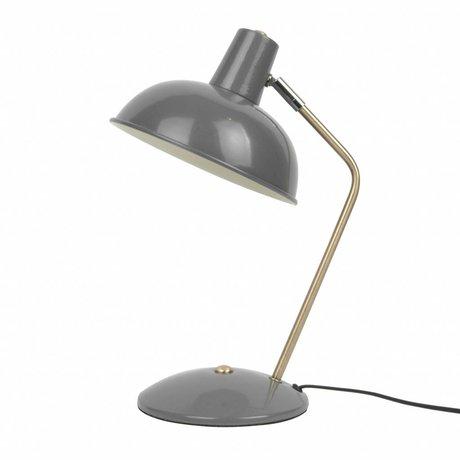 Leitmotiv Tischleuchte Hood graues Metall Ø19,5x37,5cm