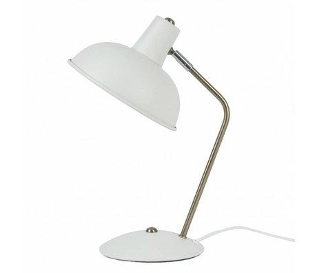 Leitmotiv Table lamp Hood white metal Ø19,5x37,5cm
